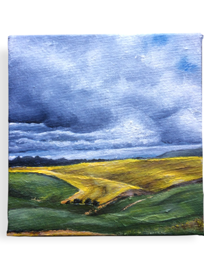 """Re-evaluating the road ahead"" - SA's Canola Fields - a commission painting for @geomaniac"