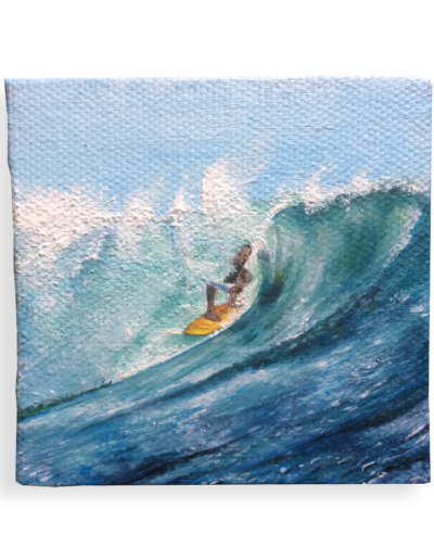 """The Sweet Spot"" - Riding waves in Indo - a commissioned painting for @will_endlesssummer"