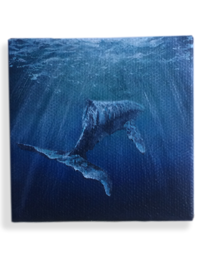 """Whale Watcher"" Part 1 of my underwater series - not for sale"