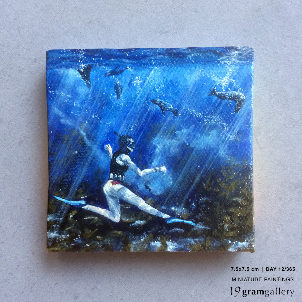 'Dive deep. Live light' – Day 12/365 (SOLD)