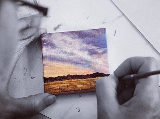 'Behind the Scene' – of the #tinypainting challenge.