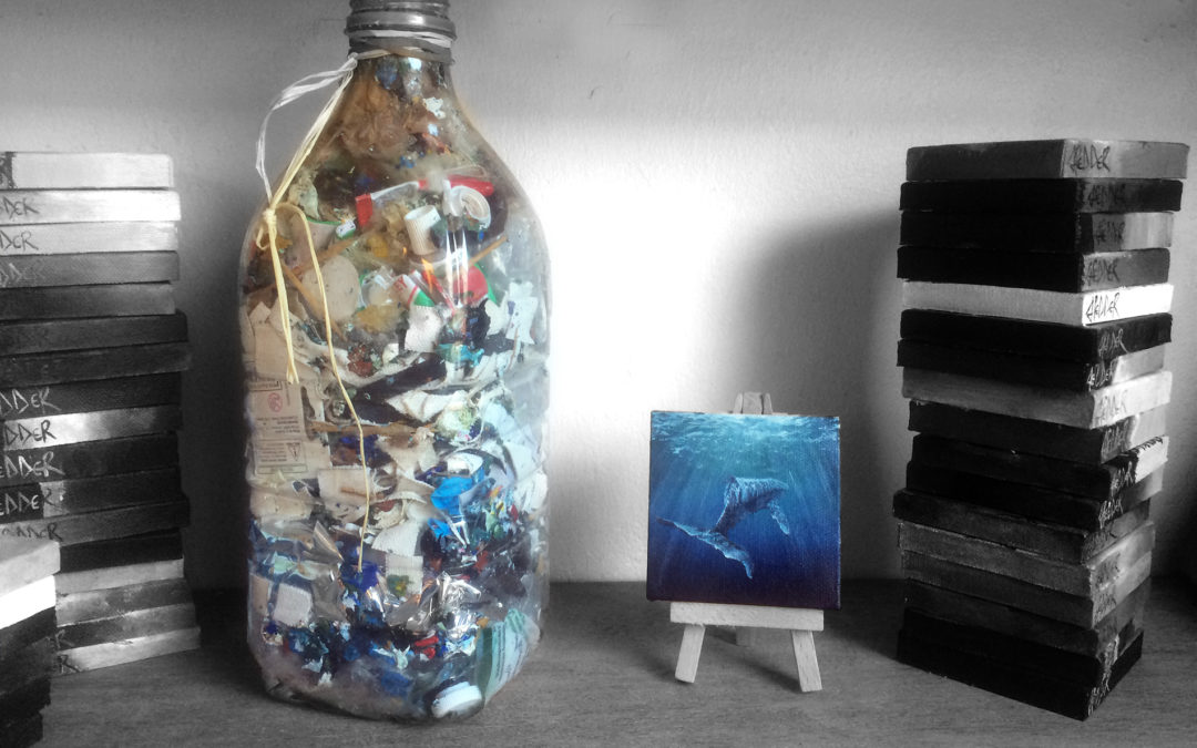 How to dispose of acrylic paint sustainably by making artist ecobricks